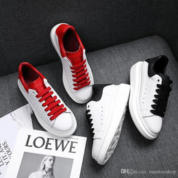 Discount girl platforms shoes falls - Fashion Sneaker Wedges Flats Platform Dress Loafers Canvas Trainers Designer Luxury White Black Women Men Girls Leather