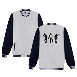 Michael Jackson Moonwalk fashion funny Baseball Jacket men women hip hop  Sweatshirt coat casual long sleeve hoodies Jackets tops 4c38f9d46cf4