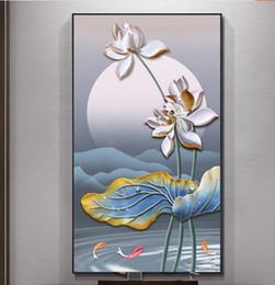 $enCountryForm.capitalKeyWord Australia - 5D DIY Diamond Painting Embossed fish play lotus,Full Diamond Embroidery,Cross Stitch,Rhinestone Diamond Mosaic Sale,Deco