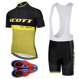 scott bikes Canada - Best Summer Scott Cycling Jerseys Suit Breathable Bicycle Shirt Bib Shorts Set Mens Quick Dry Short Sleeve Mountain Bike Clothing H1006