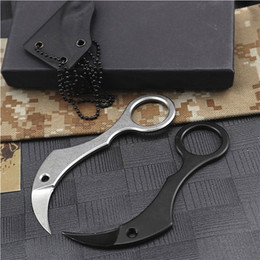 "small karambit knives 2021 - Special Offer Small Karambit Claw Knife 1.29"" D2 Steel Blade Full Tang Stainless Steel Handle Tactical Claw Knives With Kydex"