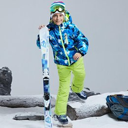 pink snow suit NZ - Outdoor Children's Ski Suit Thickened Waterproof Boys Girls Ski Jackets 2pcs Warm Skiing Jacket and Pants for Snow Coat Snowboarding Jackets