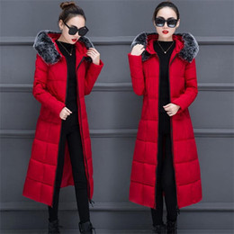 $enCountryForm.capitalKeyWord Australia - 2019 Parkas With a Hood Large Faux Fur Collar womens winter jackets and coats for women long Wadded Jackets female warm Outwear