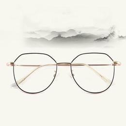 $enCountryForm.capitalKeyWord UK - Wholesale anti-blue glasses male irregular metal glasses frame 9038 retro large frame flat mirror female glasses frame