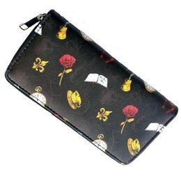 $enCountryForm.capitalKeyWord Australia - Women Lady Faux Leather Wallet Rose Print Wallets Zipper Clutch Bag Fashion PU Purse Card Holder
