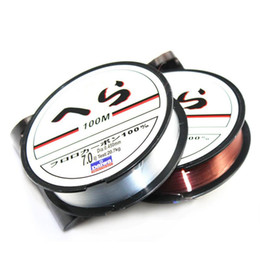 Wholesale 100M Nylon Fishing Line Strong 0.10mm - 0.50mm Monofilament Japanese Material Fishing Wire Fishing Fluorocarbon Fly Line