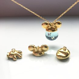 Used Cat Australia - 10pcs  lot Cat ears rabbit ears hat beads caps pendant buckle can be used with 12-18mm Pendant three-dimensional ball DIY jewelr free shippi