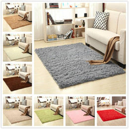 $enCountryForm.capitalKeyWord Australia - Simple Solid Color Plush Carpet Mat Rectangle Soft Anti-slip Thicken Floor Cover Living Room Table Bedroom Bedside