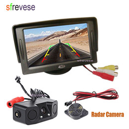 "Sensors Cars Australia - 4.3"" LCD Vehicle Rear view Monitor + 2 LED Car Reverse Parking Sensor Radar Backup Camera Assistant 170 Degree Wide Angle"