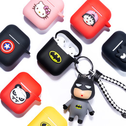 Marvel apple online shopping - Marvel Cartoon Soft Silicone Bluetooth Earphone Case For Apple AirPods Ultra thin Cute Protection Cover For AirPods Charging Box car