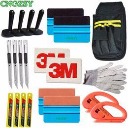 $enCountryForm.capitalKeyWord NZ - Snap-off Knife Vinyl Safety Cutter Magnet Holder Tools Bag gloves Suede Felt Edge Squeegee Scraper Kit Vehicle Car Wrapping K27