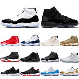 the best attitude aa6c0 c832f Nike Air Jordan 11 Retro 11 11s Basketballschuhe Concord 45 Platin  Tönungskappe und Kleid Herren Damen UNC Gym Rot Gamma Blau Olive Lux  Trainer Sport ...