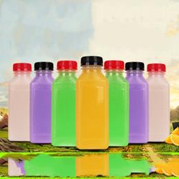 Clear plastiC hand bags online shopping - Scrub Bottle Empty Clear Plastic Juice Bottles Milk Bottles wirh evident cap Great for Storing Homemade Juices