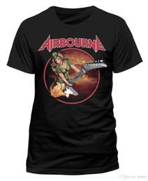 Ingrosso Maglietta T-Shirt Airbourne Donna Chitarra T-Shirt T Shirt T Shirt M-XL