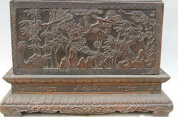"Book Money Australia - New + 17"" Chinese dynasty palace nobility Wood square plum blossom book casket box"