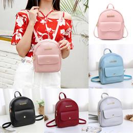 $enCountryForm.capitalKeyWord Australia - Korean Style Sweet Women New Small Mini Backpack PU Leather Shoulder School Rucksack Ladies Girls Casual Simple Travel Bag