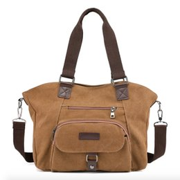 $enCountryForm.capitalKeyWord NZ - 2019 New Arrival Sale Handbags Women Bags Designer Canvas Shoulder Bag Female Retro Daily Causal Totes Elegant Shopping Handbag