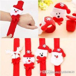 Опт 10шт/много рождественские украшения рождественские похлопывая круг Рождество дети подарок Дед Мороз снеговик олень Новый Год партии игрушки