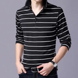 $enCountryForm.capitalKeyWord NZ - Men's Long Sleeves Polo Shirt Striped Design Slim Polo Men Stand Collar Streetwear Polo Male Hipster Shirt Clothing Tops