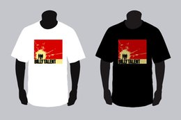 punk band tees Australia - New Billy Talent Red Square Punk Rock Band Black And White T-shirt Tee Xs - 3xl