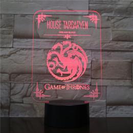 $enCountryForm.capitalKeyWord Australia - House Targaryen of King's Landing Kids Night Light LED USB Touch Sensor Room Festival Gift Decorative Desk Lamp Game of Thrones
