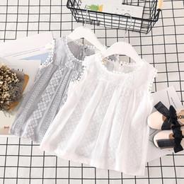 $enCountryForm.capitalKeyWord Australia - Toddler Baby Kids Girls T-shirt Tops Vest Casual Clothes Solid Lace Patchwork Girls Summer Clothes t shirt Roupa Infantil Menina