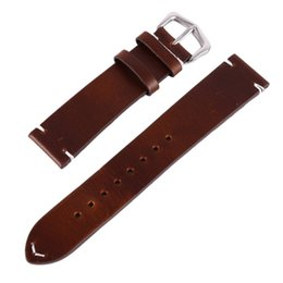 Leather watchbands 22mm online shopping - Watch Bracelet Belt Black Watchbands Genuine leather Strap Watch Band mm mm mm Watches Accessories