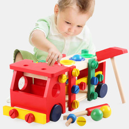 $enCountryForm.capitalKeyWord NZ - Montessori Educational Wooden Toys for Children Early Learning Development Kids Intelligence Knock Ball Screw Nut Truck Car