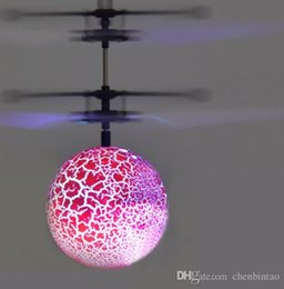 Boys Toys Helicopter Australia - Flying Luminous Ball RC Kid's Flying Ball Anti-stress Drone Helicopter Infrared Induction Aircraft Remote Control Toys Gifts