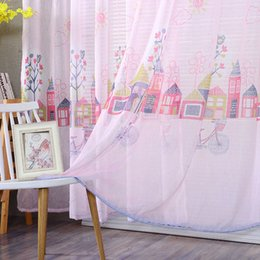 $enCountryForm.capitalKeyWord Australia - Cartoon Simple house fashion tulle curtains for kids child bedroom window living room pink home decor