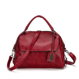 Handbags for body sHape online shopping - 2019 Boston Fashion Pillow Shape Waxy PU Leather Bags for Womaen Girls Ladies Tote Handbags Shoulders Cross Body Bags with High Quality