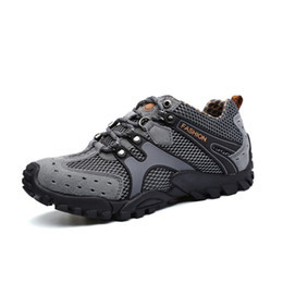 $enCountryForm.capitalKeyWord Australia - Outdoor Sports Hiking Shoes For Men Mesh Mountaineering Hunting Trekking Camping Shoes Summer Breathable Upstream