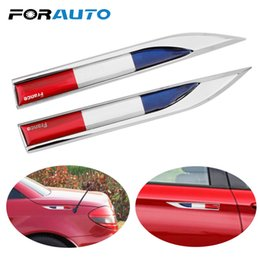 Wholesale 2Pcs Car Side Fender Stickers Italy England France Russia Flag Motorcycle Auto Stickers and Decals Car styling Car Sticker