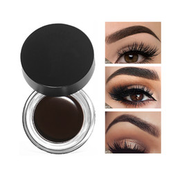 $enCountryForm.capitalKeyWord Australia - New Brand 5 Colors Eyebrow Tint Makeup Waterproof Pomade Gel Long lasting 3D Natural Brown Eye Brow Enhancer Cream With Brush