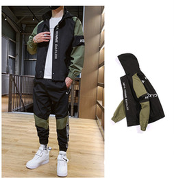 Wholesale black cardigans resale online - Mens Tracksuits With Fashion Letter Embroidery Street Sports Styles Sets Spring Autumn Casual Clothes