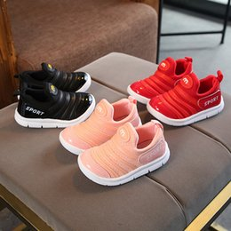 loafer new shoes leather 2019 - spring new fashion children comfortable loafers infant girls sneakers cute baby boys breathable mesh shoes toddler kids