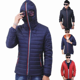 quilted parka men Australia - Brand Winter Jackets Men Women Parkas with Glasses Padded Hooded Coat Male Warm Windproof Quilted Jacket Plus Size M-4XL