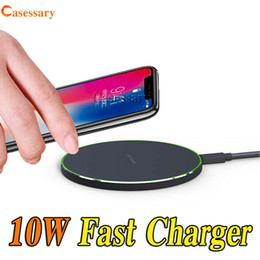 Wholesale 10W Fast Wireless Charger for iPhone X XR XS MAX Samsung S9 S10 Plus Qi Wireless Charger With Retail Package DHL Shipping