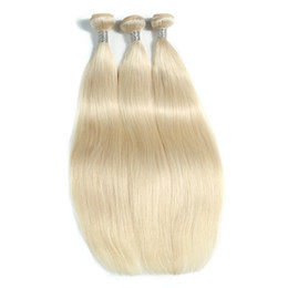 $enCountryForm.capitalKeyWord NZ - The New Style Of Blonde Brazilian Virgin Straight Remy Hair Extensions 100% Human Hair Weaving 10-30 Inchs Unprocessed Double Weft Hair Weav