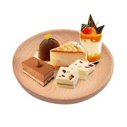 Wholesale Dinnerware Plates Australia - Solid Wood Round Serving Tray Snack Dry Fruit Plate High-quality Handmade Sushi Dish Dinnerware Tableware C19042101