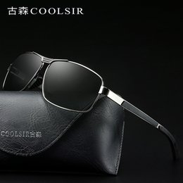Wholesale New Men s Polarized Sunglasses Frame Anti glare Intelligent Color Changing Polarized Sunglasses Driving Mirror