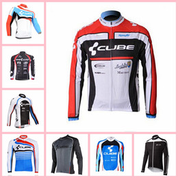 $enCountryForm.capitalKeyWord Australia - CUBE team Cycling long Sleeves jersey Comfortable 100% Polyester Breathable Men Cycling Jersey Bike Sports X71552