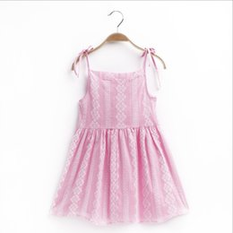 Chinese  2019 Baby Girl Floral dresses Summer Sleeveless Cotton Suspender Princess Vest Dress Kids boutique Clothes childrens boutique clothing manufacturers