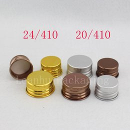 $enCountryForm.capitalKeyWord NZ - 24   410 20   410 Closure Aluminum Screw Cap For Bottles 4 Colors Metal Screw Lids For Bottle, Cosmetic Containers Packaging