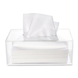$enCountryForm.capitalKeyWord UK - Simple Acrylic small Tissue box makeup Crystal Pumping carton Organizer Case Clear Napkin carton Multifunction Display Box