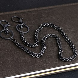 Boy Chain Pants Australia - Long Metal Wallet Belt Trousers Hipster Pants Chain Jean Key Chain Ring Clip Key ring Women Keychain Trinket