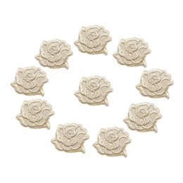 Emblemen Pair of Apricot Peach Orange Roses Patches Iron Sew On Rose Flower Clothes Patch