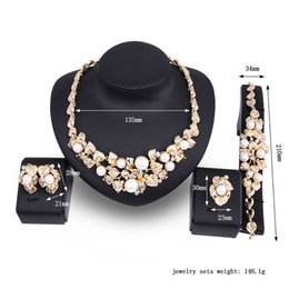 $enCountryForm.capitalKeyWord Australia - hot pearl gold-plated jewelry necklace earrings set Vintage Jewelry Sets Women Jewellry Sets Wedding Valentine's Day Gift