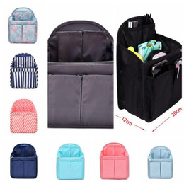 Handbag organizer travel purse online shopping - 9 Colors Dual Bag In Bag Women Insert Handbag Organizer Purse Makeup Case Storage Liner Bag Tidy Travel Insert Storage Bags CCA11423