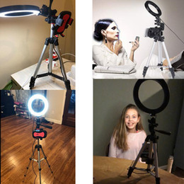 5.7 inch LED Ring Light Photo Studio Camera Light Photography Dimmable Video light for Youtube Makeup Selfie with Tripod Phone Holder on Sale